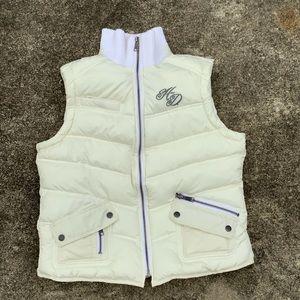 Harley Davidson Ladies Puffer Vest White Size M
